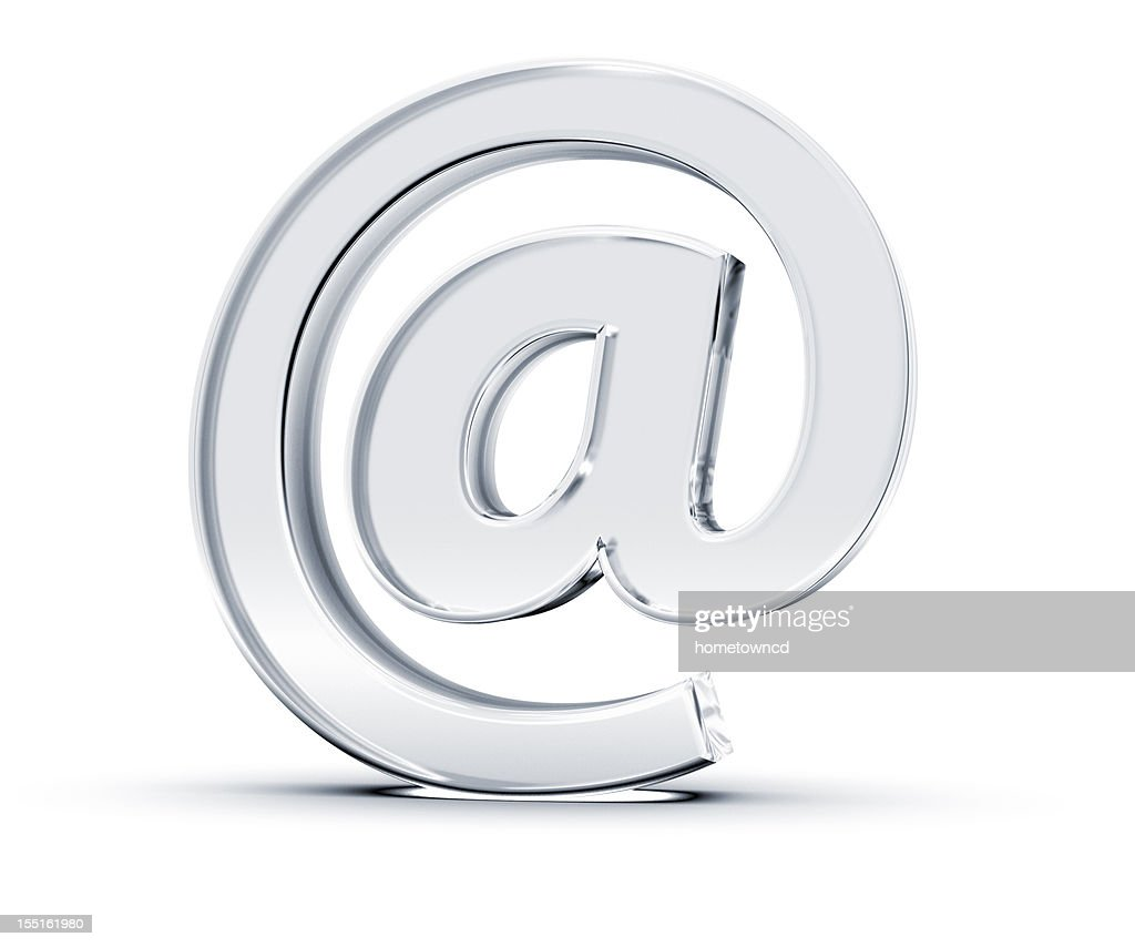 A singular at email symbol on white