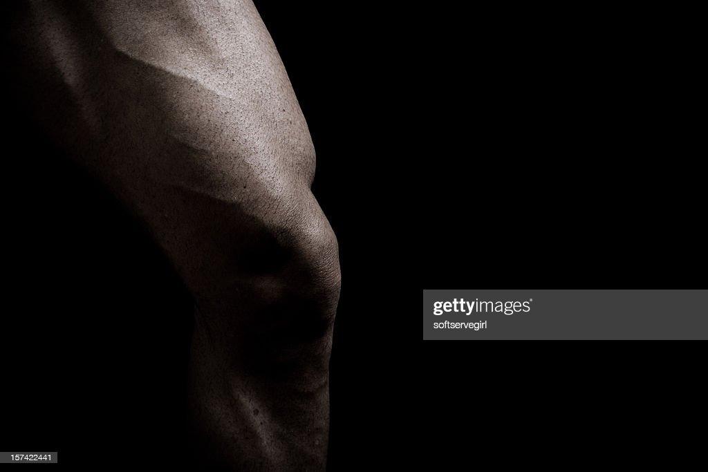 Singular Muscular Male Leg of a Bodybuilder