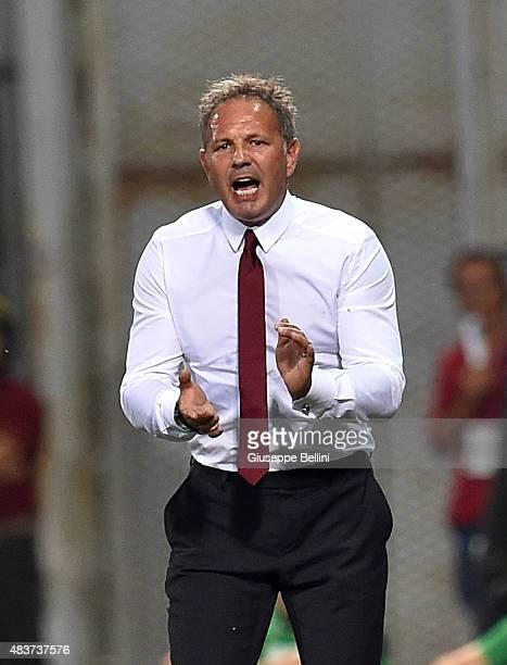 Sinisa Mihajlovic head coach of Milan during the TIM preseason tournament match between AC Milan and FC Internazionale at Mapei Stadium Città del...