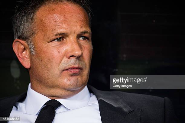 Sinisa Mihajlovic head coach of of AC Milan looks on prior to the AC Milan vs FC Internacionale as part of the International Champions Cup 2015 at...