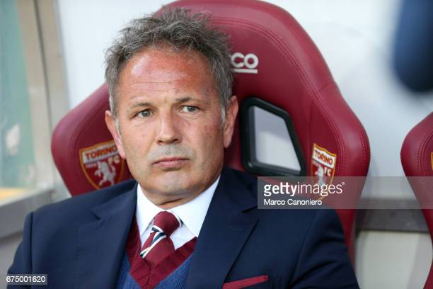 Sinisa Mihajlovic head coach of Torino FC looks on before the Serie A football match between Torino FC and Uc Sampdoria The match ended in a 11 draw