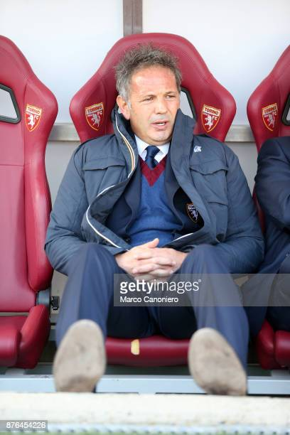 Sinisa Mihajlovic head coach of Torino FC looks on before the Serie A football match between Torino FC and Ac Chievo Verona The match ended in a 11...