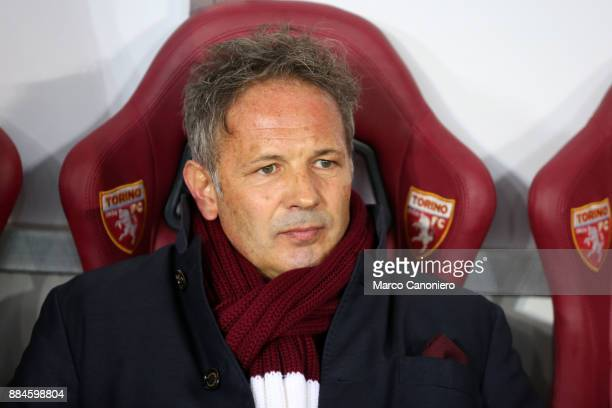 Sinisa Mihajlovic head coach of Torino FC looks on before the Serie A football match between Torino FC and Atalanta Bergamasca Calcio Players of...