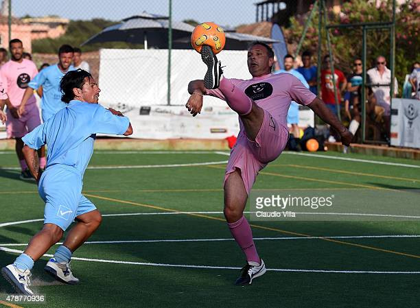 Sinisa Mihajlovic in action during the Porto Cervo Summer 2015 Fiveaside Football Tournament Day One on June 27 2015 in Porto Cervo Italy