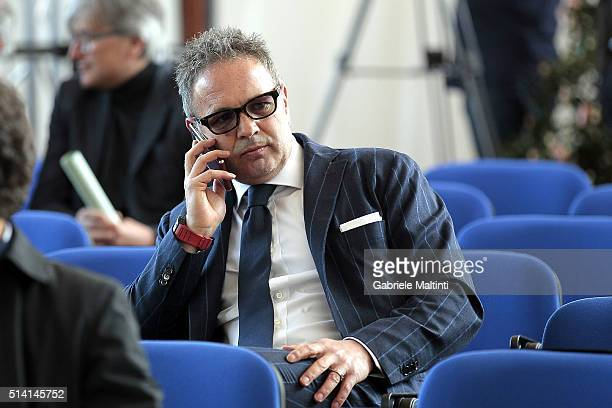 Sinisa Mihajlovic manager of AC Milan during the 'Panchina D'oro season 20142015' at Coverciano on March 7 2016 in Florence Italy