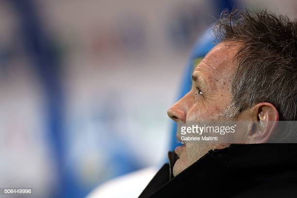 Sinisa Mihajlovic manager of AC Milan during the Serie A match between Empoli FC and AC Milan at Stadio Carlo Castellani on January 23 2016 in Empoli...