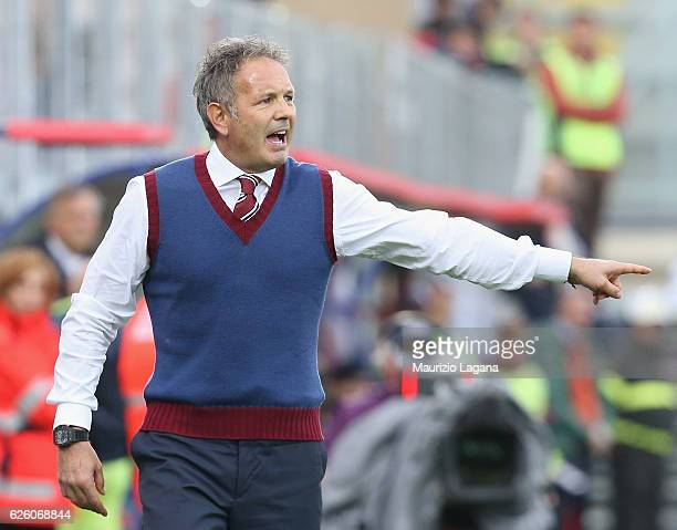 Sinisa Mihajlovic of Torino gestures during the Serie A match between FC Crotone and FC Torino at Stadio Comunale Ezio Scida on November 20 2016 in...