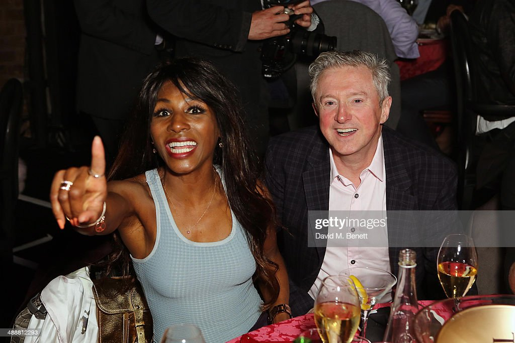 Sinita and Louis Walsh attend the London Cabaret Club Gala Launch at The Collection on May 8, 2014 in London, England.