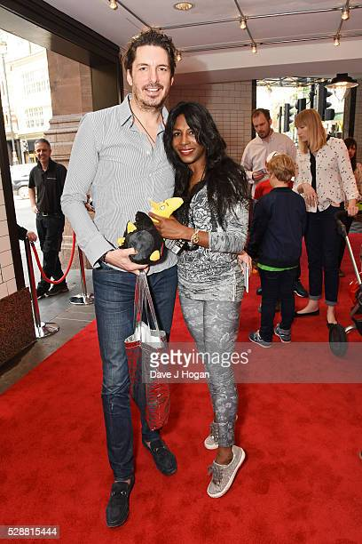 Sinitta and Jason Gale attend the UK gala screening of 'Angry Birds' at Picturehouse Central on May 7 2016 in London England