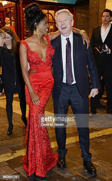 Sinitta and Louis Walsh arrive at the press night performance of 'I Can't Sing The X Factor Musical' at the London Palladium on March 26 2014 in...