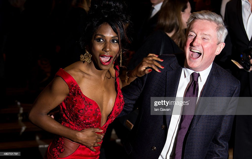 <a gi-track='captionPersonalityLinkClicked' href=/galleries/search?phrase=Sinitta&family=editorial&specificpeople=1797588 ng-click='$event.stopPropagation()'>Sinitta</a> and Louis Walsh attends the press night of 'I Can't Sing! The X Factor Musical' at London Palladium on March 26, 2014 in London, England.