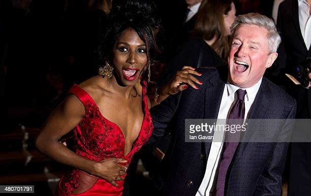 Sinitta and Louis Walsh attends the press night of 'I Can't Sing The X Factor Musical' at London Palladium on March 26 2014 in London England