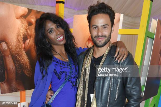 Sinitta and Vinny Olimpio attend Absolut's #KissWithPride event at the Houses of Parliament in celebration of the 50th anniversary of The Sexual...