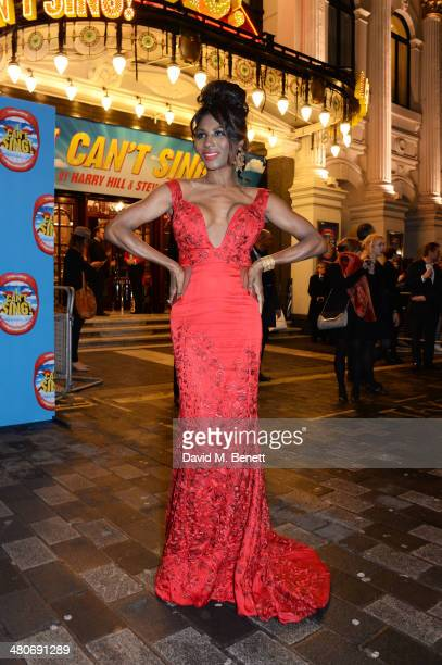 Sinitta arrives at the press night performance of 'I Can't Sing The X Factor Musical' at the London Palladium on March 26 2014 in London England