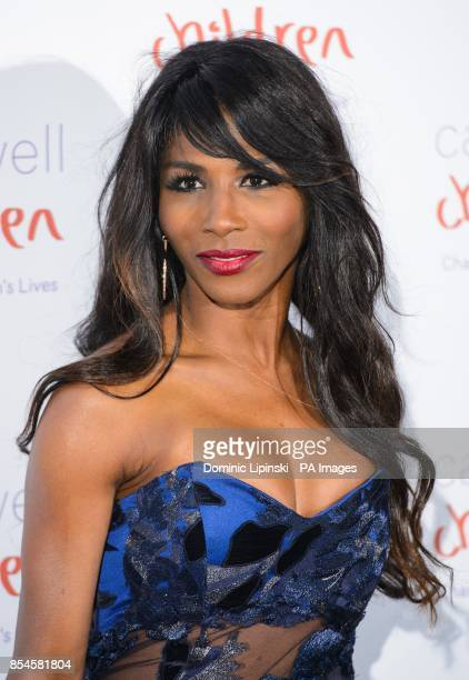 Sinitta arriving at the Caudwell Children Butterfly Ball at the Grosvenor House hotel in central London