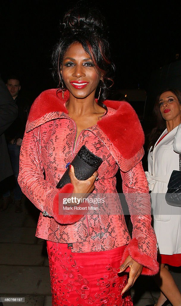 <a gi-track='captionPersonalityLinkClicked' href=/galleries/search?phrase=Sinitta&family=editorial&specificpeople=1797588 ng-click='$event.stopPropagation()'>Sinitta</a> at the I Can't Sing opening night party held at One Marylebone on March 26, 2014 in London, England.