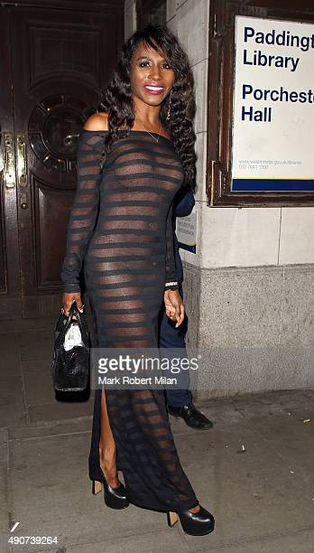 Sinitta at the Reality TV awards on September 30 2015 in London England