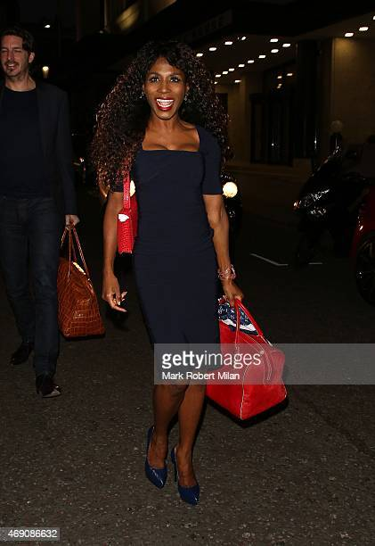 Sinitta attending James Ingham's Jog on to Cancer Research UK event at Kensington Roof Gardens on April 9 2015 in London England