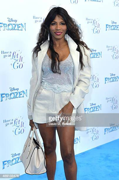 Sinitta attends a celebrity singalong from 'Frozen' at Royal Albert Hall on November 17 2014 in London England