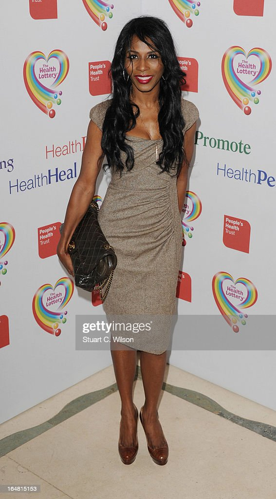 Sinitta attends a fundraising event in aid of The Health Lottery hosted by Simon Cowell at Claridges Hotel on March 28, 2013 in London, England.