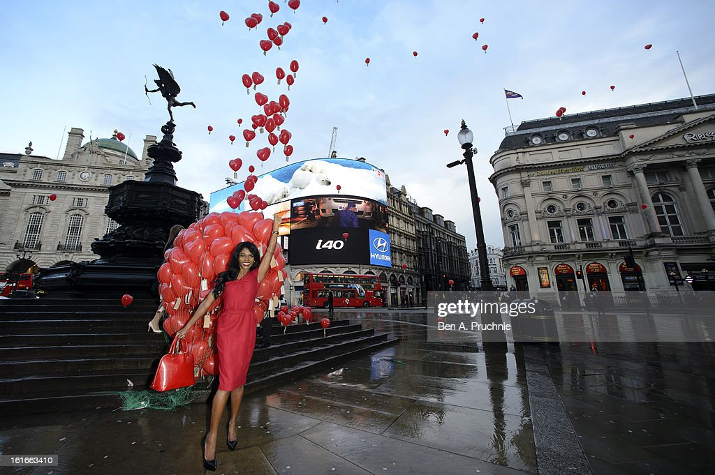 Sinitta attends a photocall to launch Love London Day at Picadilly Circus on February 14, 2013 in London, England.