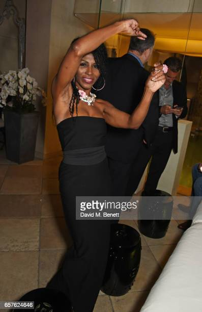 Sinitta attends Lisa Tchenguiz's party hosted by Fatima Maleki in Mayfair on March 24 2017 in London England