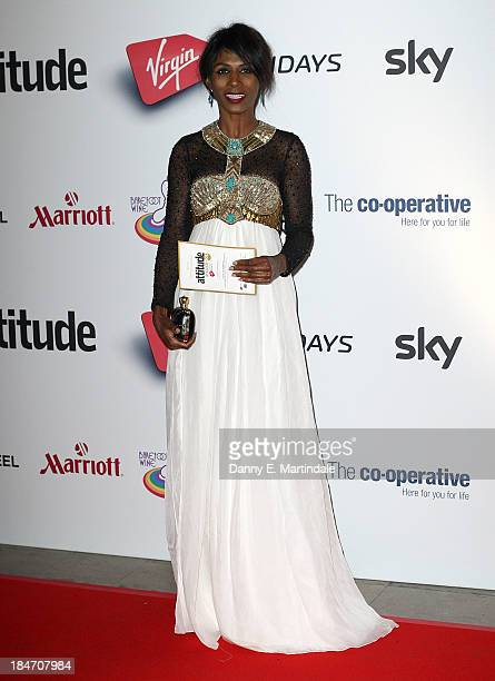 Sinitta attends the Attitude Magazine awards at Royal Courts of Justice Strand on October 15 2013 in London England