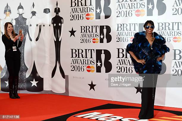 Sinitta attends the BRIT Awards 2016 at The O2 Arena on February 24 2016 in London England