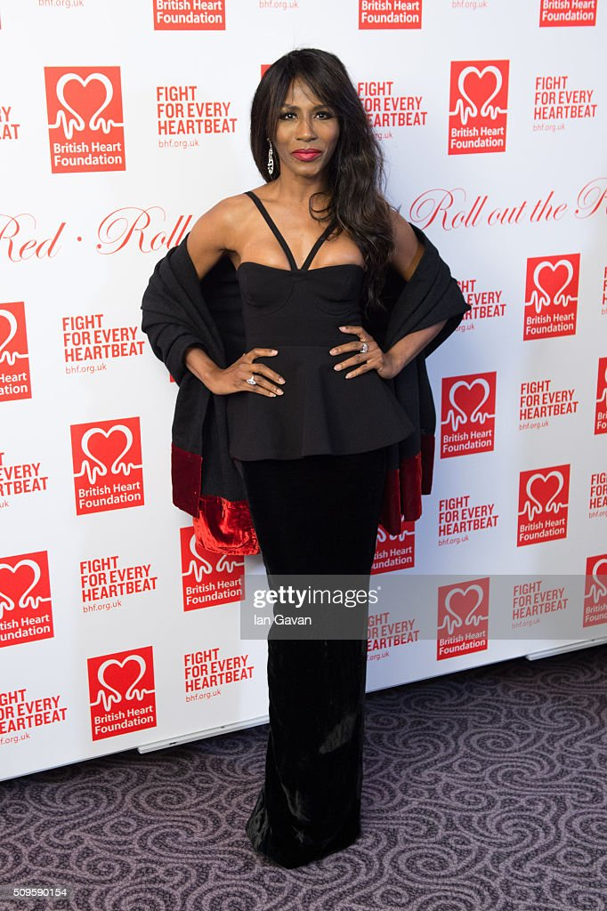 <a gi-track='captionPersonalityLinkClicked' href=/galleries/search?phrase=Sinitta&family=editorial&specificpeople=1797588 ng-click='$event.stopPropagation()'>Sinitta</a> attends the British Heart Foundation: Roll Out The Red Ball at The Savoy Hotel on February 11, 2016 in London, England.