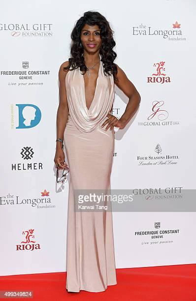 Sinitta attends The Global Gift Gala at Four Seasons Hotel on November 30 2015 in London England