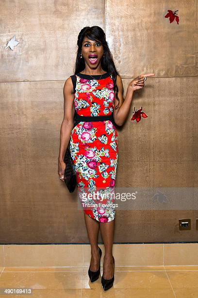 Sinitta attends the premiere for 'Nat King Cole Afraid Of the Dark' at The Mayfair Hotel on May 13 2014 in London England