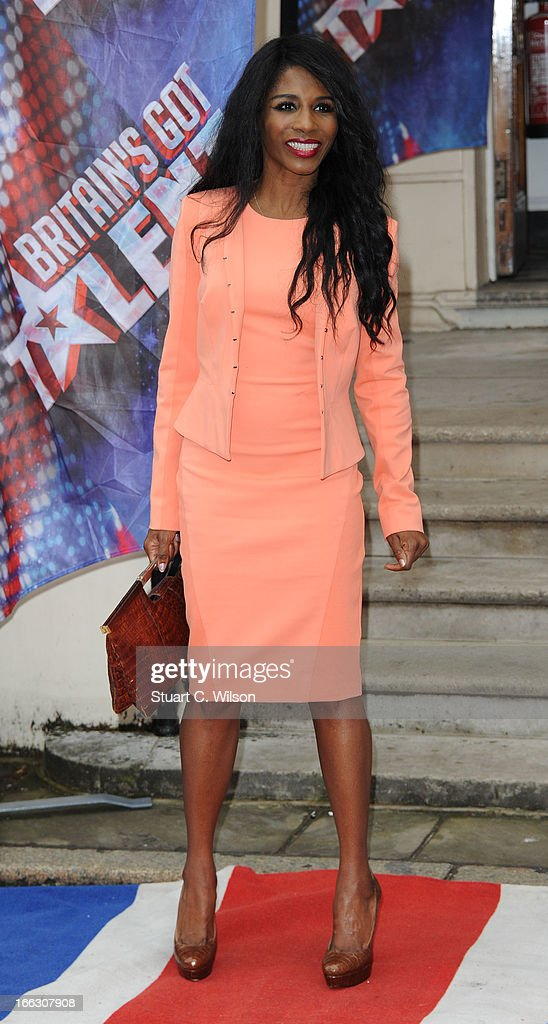 Sinitta attends the press launch for the new series of 'Britain's Got Talent' at ICA on April 11, 2013 in London, England.