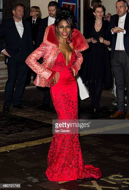 Sinitta attends the press night of 'I Can't Sing The X Factor Musical' at London Palladium on March 26 2014 in London England