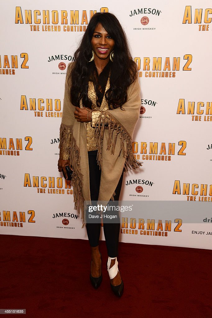 Sinitta attends the UK premiere of 'Anchorman 2: The Legend Continues' at The Vue West End on December 11, 2013 in London, England.