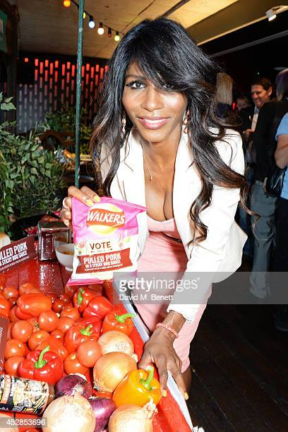 Sinitta attends the 'Walkers 'Do Us A Flavour' finalists launch at Paramount Centre Point on July 28 2014 in London England