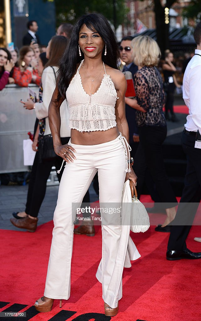 Sinitta attends the World Premiere of 'One Direction: This Is Us' at Empire Leicester Square on August 20, 2013 in London, England.