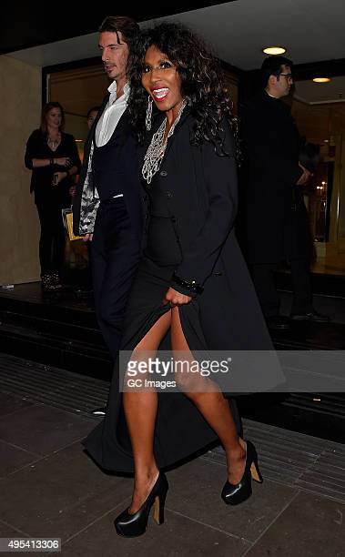 Sinitta eaves Grosvenor Hotel after the Music Industry Trusts Awards on November 2 2015 in London England