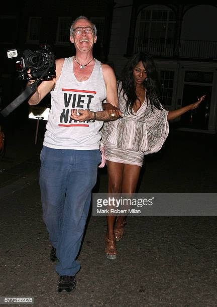 Sinitta leaving the Syco summer party at St James' Palace on July 18 2016 in London England
