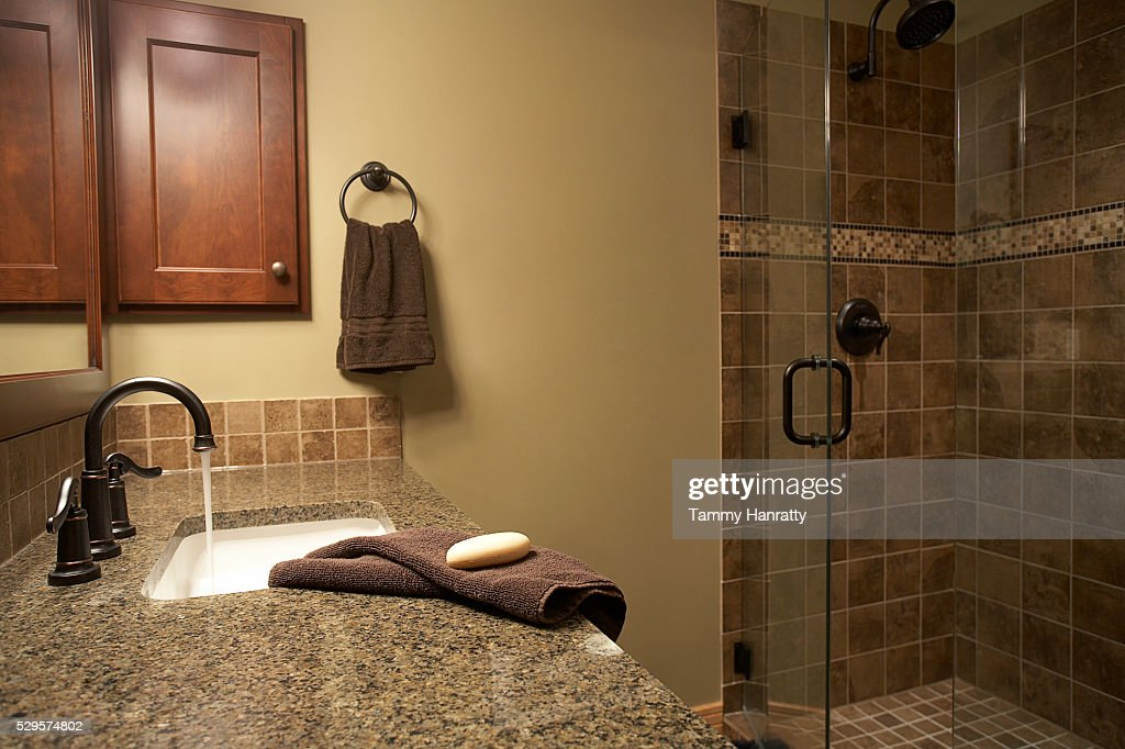 Sink and shower : Stockfoto