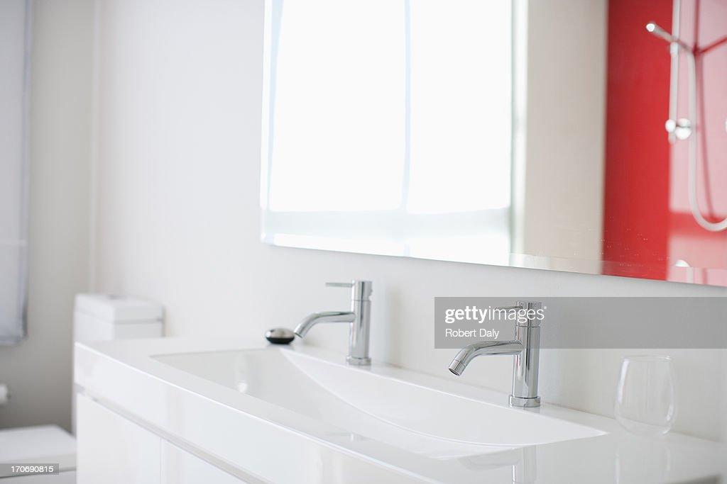 Sink in modern bathroom