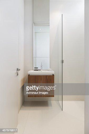 Sink In Modern Bathroom Stock Photo