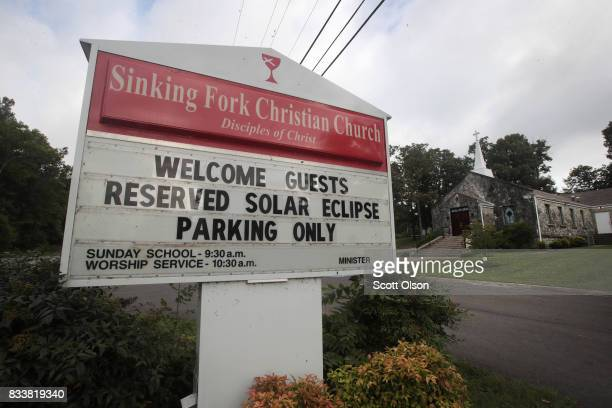 Sinking Fork Christian Church has sold spaces in its parking lot to view the upcoming solar eclipse on August 17 2017 in Hopkinsville Kentucky...