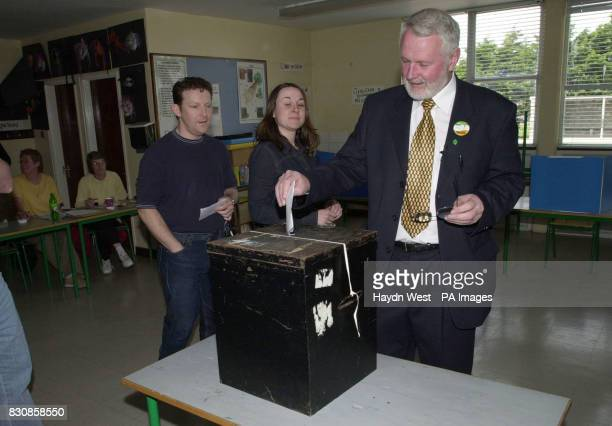 Sinn Fein candidate for North Kerry Martin Ferris casting his vote in Ardfert near Tralee in Co Kerry