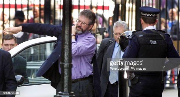 Sinn Fein Gerry Adams arriving at Downing Street
