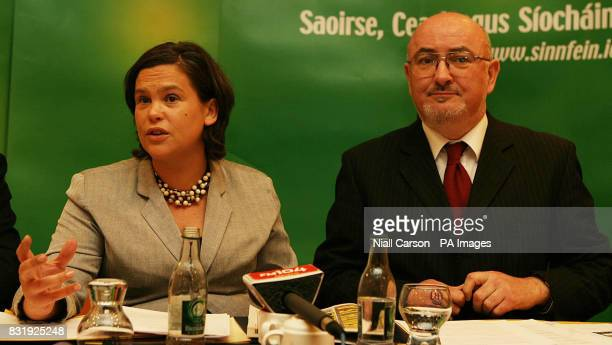 Sinn Fein MEP Mary Lou McDonnell nd Irish Parlimentary leader Caoimhghin O'Caolain launch the party's Health care Manifesto in Dublin PRESS...