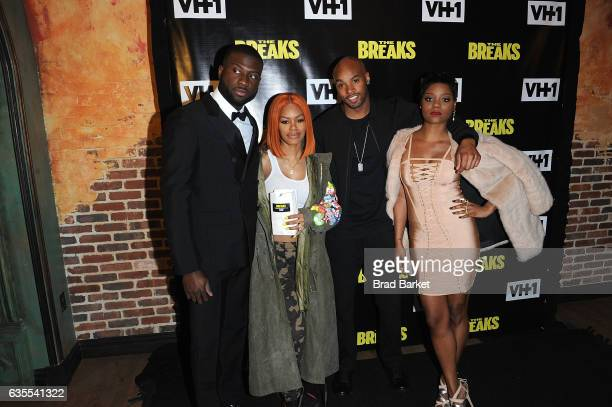 Sinqua Walls Teyana Taylor Antoine Harris and Afton Williamson attend 'The Breaks' Series Premiere at Roxy Hotel on February 15 2017 in New York City