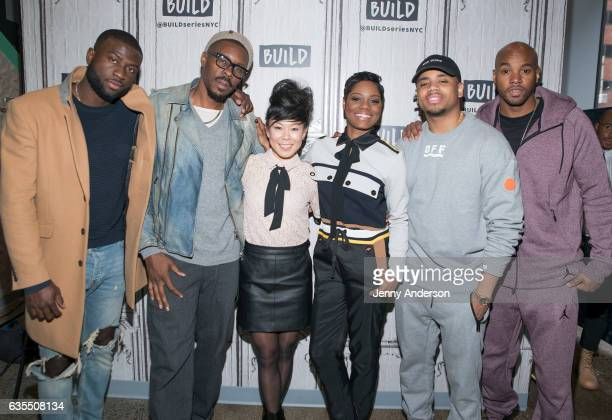Sinqua Walls Wood Harris Ali Ahn Afton Williamson Mack Wilds and Antoine Harris attend AOL Build Series to discuss their show 'The Breaks' at Build...