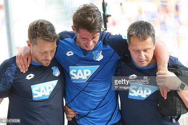 Sinsheim Germany 1BL TSG Hoffenheim vs Schalke 04 MarkAlexander Uth verletzt'n