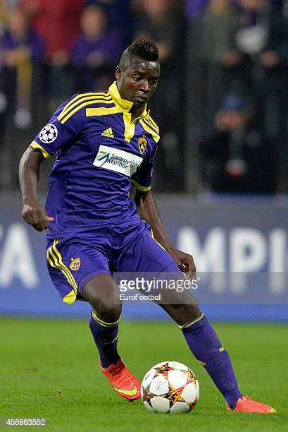 Sintayehu Sallalich of NK Maribor in action during the UEFA Group G Champions League football match between NK Maribor and Sporting Lisbon at the...