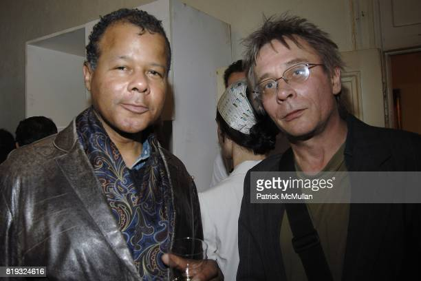 Sioan Bethel and Joe Bendik attend PETER HALPERT FINE ART Gallery presents 600 Polaroids by MIKAEL KENNEDY at Chelsea Hotel on April 14 2010 in New...